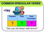 common irregular verbs38