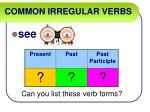 common irregular verbs46