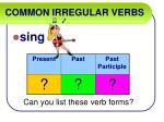 common irregular verbs48