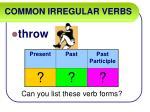 common irregular verbs58