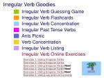 irregular verb goodies