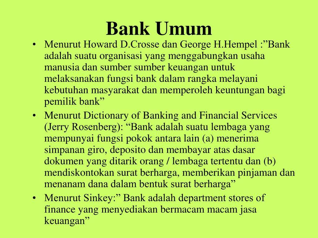 bank umum l.