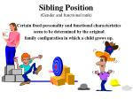 sibling position gender and functional rank