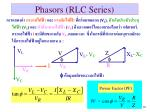 phasors rlc series