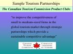 sample tourism partnerships