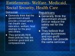 entitlements welfare medicaid social security health care