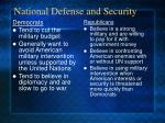 national defense and security
