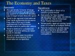 the economy and taxes