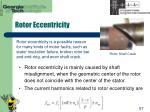 rotor eccentricity