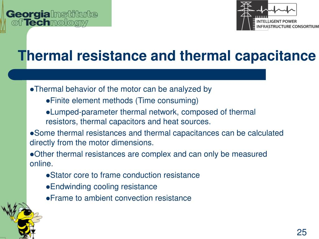 Thermal resistance and thermal capacitance
