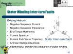 stator winding inter turn faults52