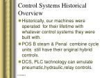 control systems historical overview