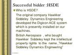 successful bidder hsde