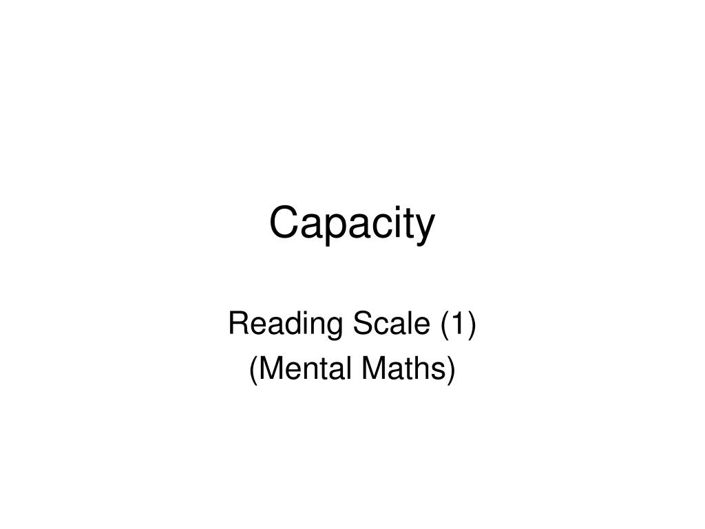 capacity l.