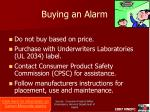 buying an alarm