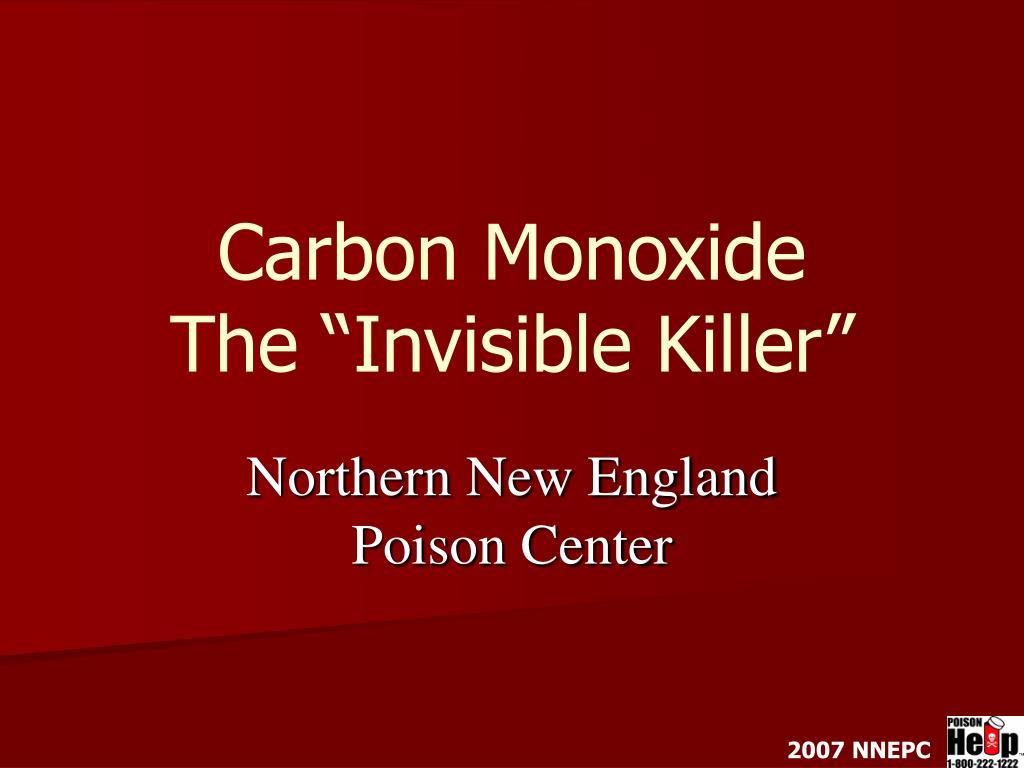 carbon monoxide the invisible killer l.