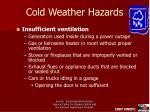 cold weather hazards