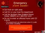 emergency alarm sounds