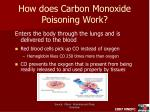 how does carbon monoxide poisoning work