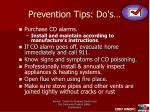 prevention tips do s