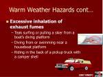 warm weather hazards cont