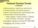 national tourism trends continued