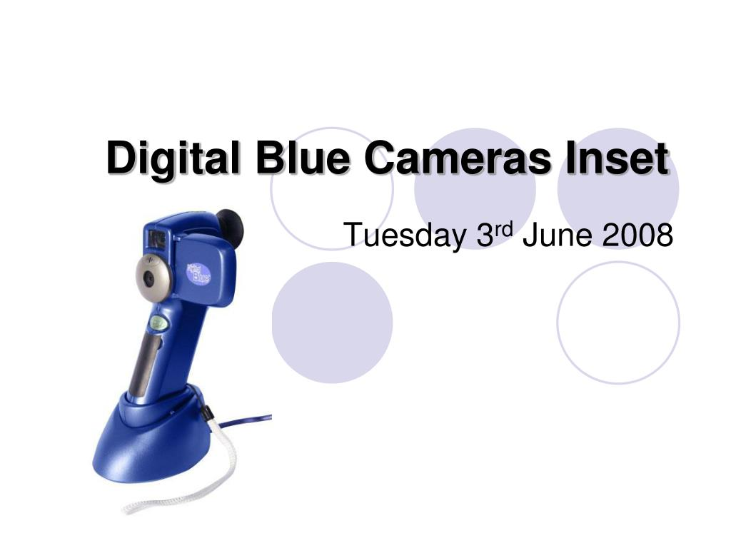 digital blue cameras inset l.