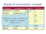 regole di associazione esempio45