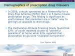 demographics of prescription drug misusers14