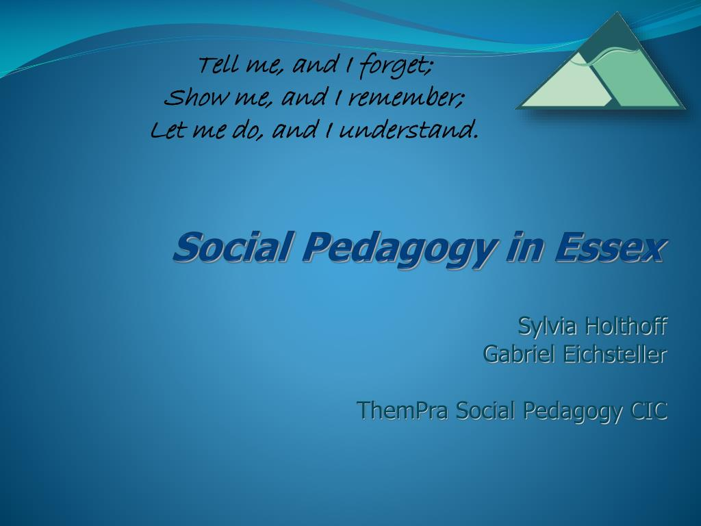 social pedagogy in essex l.