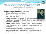 the development of pedagogic thought4