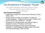 the development of pedagogic thought5