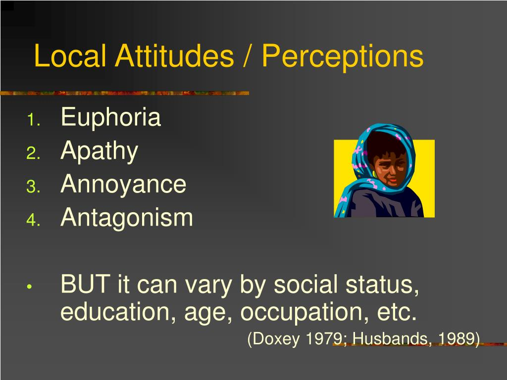 Local Attitudes / Perceptions