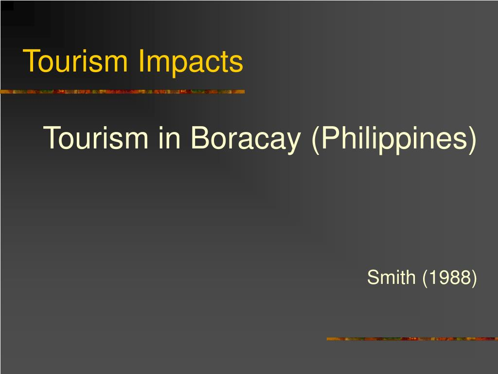 Tourism in Boracay (Philippines)