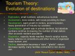 tourism theory evolution of destinations