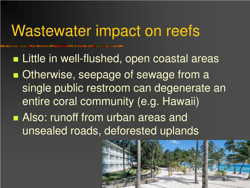 Wastewater impact on reefs
