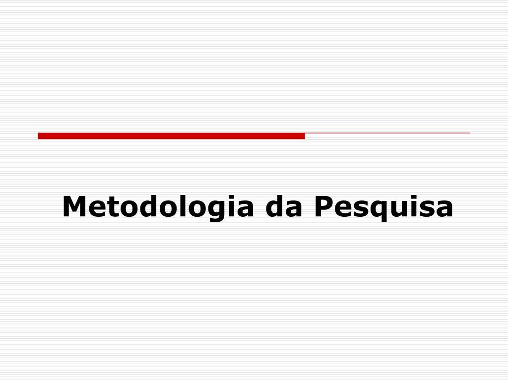 metodologia da pesquisa l.