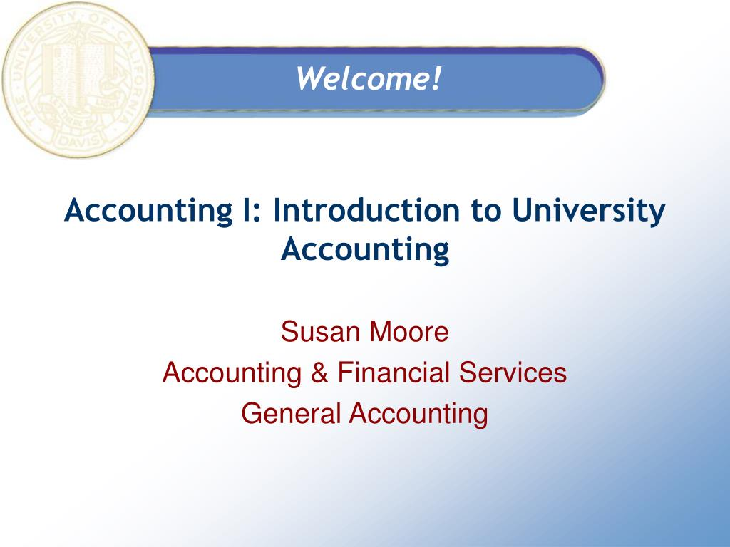 accounting i introduction to university accounting l.