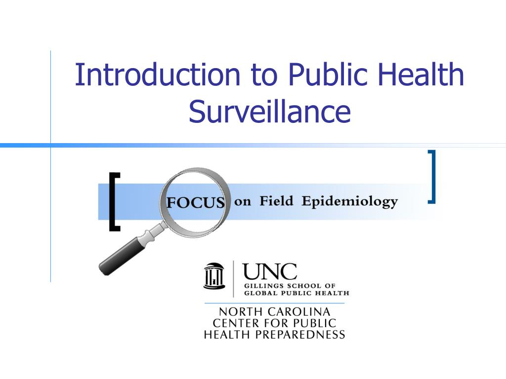 introduction to public health surveillance l.