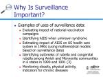 why is surveillance important10