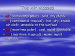 the air masses