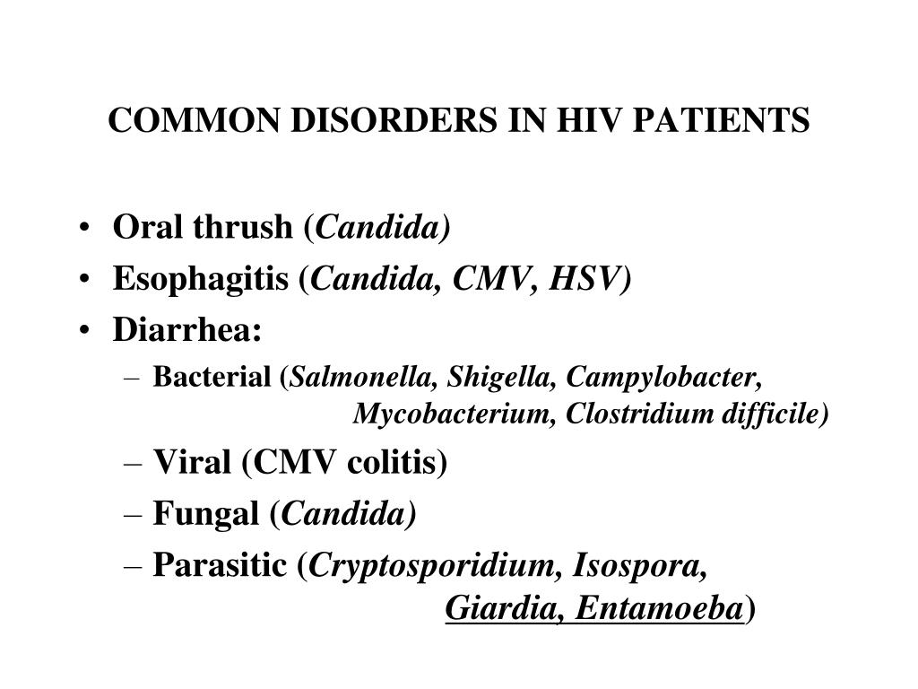 COMMON DISORDERS IN HIV PATIENTS