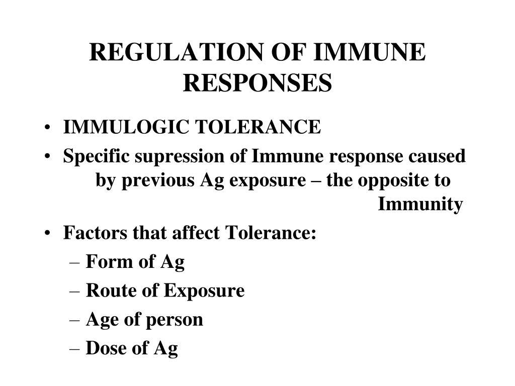REGULATION OF IMMUNE RESPONSES