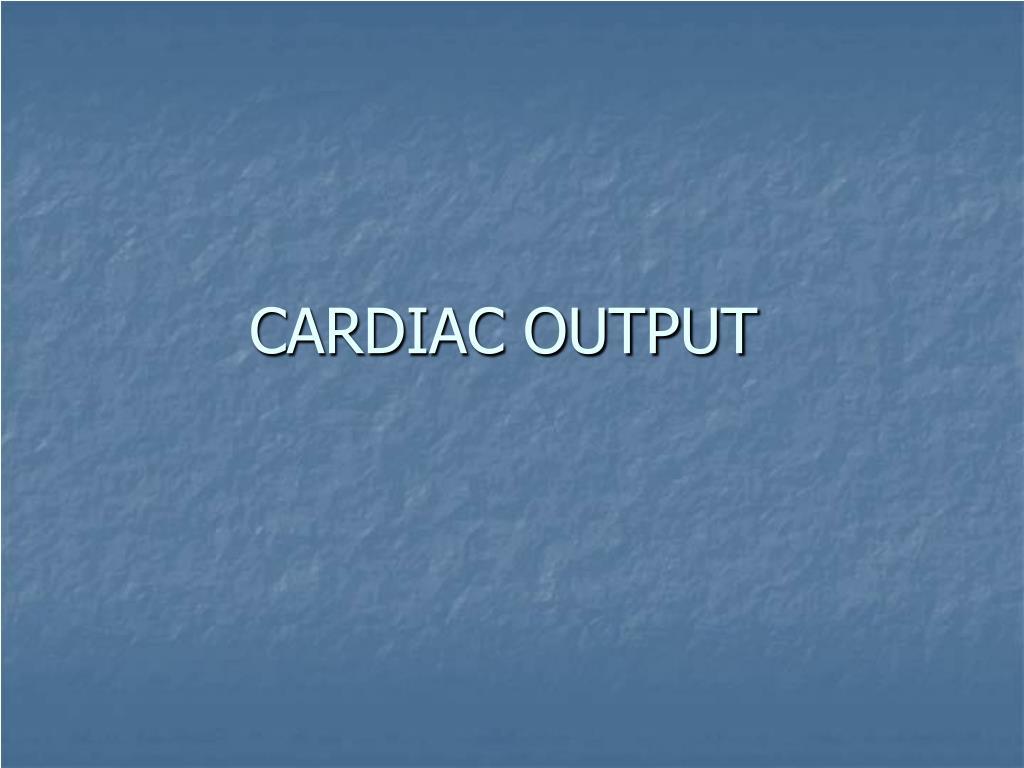 cardiac output l.