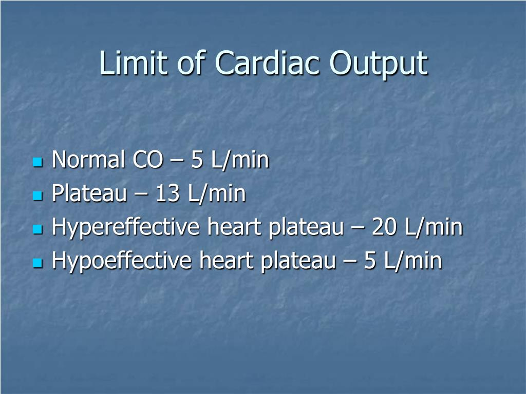 Limit of Cardiac Output