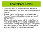 equivalence scales