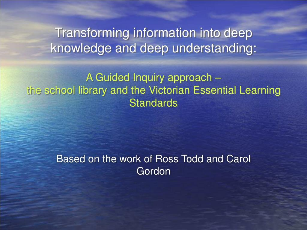 based on the work of ross todd and carol gordon l.