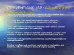 interventions isp collection