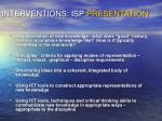 interventions isp presentation