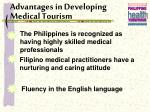 advantages in developing medical tourism16